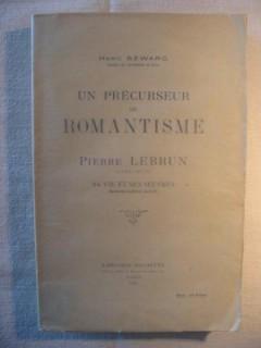 Un précurseur du romantisme, Pierre Lebrun