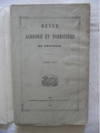 Revue agricole et forestière de Provence
