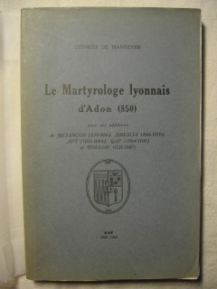 Le martyrologe lyonnais d'Adon