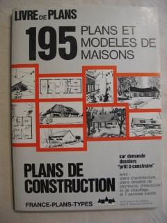 195 plans et modèles de maisons, livre de plans