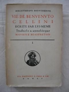 Vie de Benvenuto Cellini écrite par lui-même