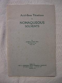 Acid-base titrations in nonaqueous solvants