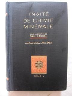 Traité de chimie minérale