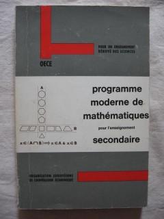 Programme moderne de mathématiques pour l'enseignement secondaire
