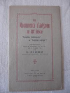 Les monuments d'Avignon au XIXe siècle