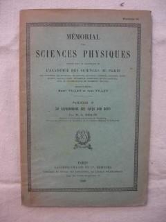 Mémorial des sciences physiques, le rayonnement des corps non noirs