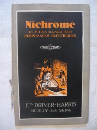 Nichrome et autre alliages pour résistances électriques