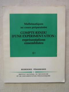 Mathématiques au cours préparatoire, compte rendu d'une expérimentation