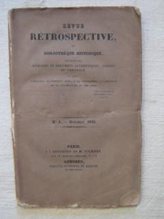 Revue rétrospective ou bibliothèque historique, n°1