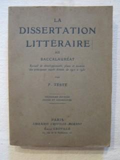 La dissertation littéraire au baccalauréat