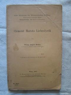 Clément Marots Liebeslyrik