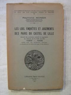 Les lois, enquêtes et jugements des pairs du castel de Lille