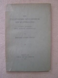Ein italienisches novellenbuch des quattrocento, Giovanni Sabadino degli arientis porrettane