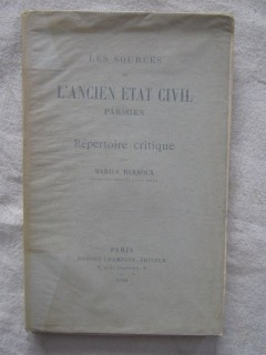 Les sources de l'ancien état civil parisien, répertoire critique