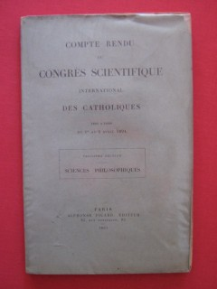 Comte rendu du congré scientifique international des catholiques