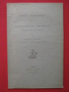 Examen géographique du tome 1er des Diplomata Imperii