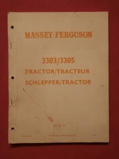 Catalogue de pièces Massey Fergusson tracteur 3303/3305
