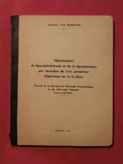 Traitement du spondylolisthesis et de la spondylolyse par résection de l'arc postérieur