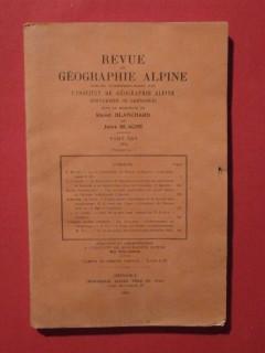 Revue de géographie alpine tome XXII 1934 fascicule 1