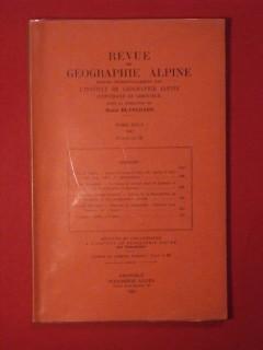 Revue de géographie alpne, tome XXXV, fascicule III