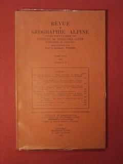 Revue de géographie alpine, tome XLVI, fascicule II
