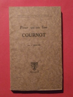 Pour qu'on lise Cournot