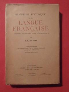 Grammaire historique de la langue française, T1