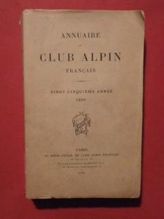 Annaire du club alpin français, 1898