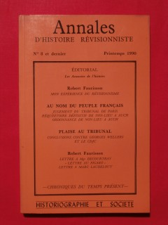 Annales d'histoire révisionniste, n°8