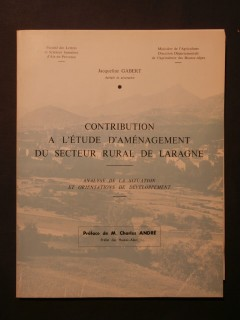 Contribution à l'étude d'aménagement du secteur rural de Laragne