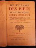 De l'usage des fiefs et autres droits seigneuriaux