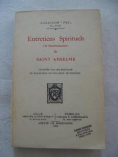 Entretiens spirituels de Saint Anselme