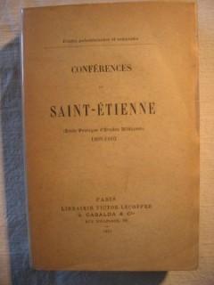 Conférences de St Etienne