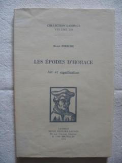 Les épodes d'Horace, art et signification