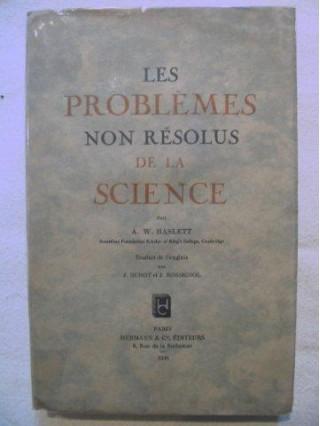 Les problèmes non résolus de la science