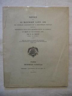 Notice sur le manuscrit  latin 886