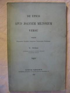 De epico apud Joannem Miltonium versu