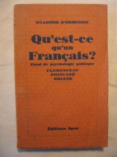 Qu'est-ce qu'un français?