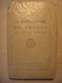 Le romantisme en France au XVIIIe siècle