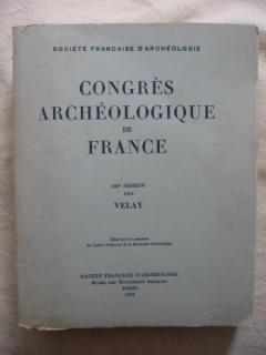 Congrés archéologique de France, 133e session, Velay