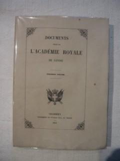 Documents publiés par l'académie royale de Savoie, Tome 1