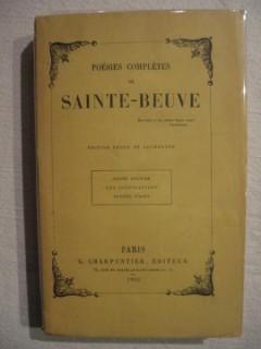 Poésies complètes de Sainte Beuve