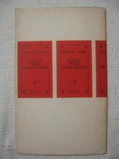 Poèmes pour Henri Martin