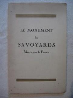 Le monument des savoyards morts pour la France