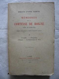 Mémoires de la comtesse de Boigne, née d'Osmond, T1.