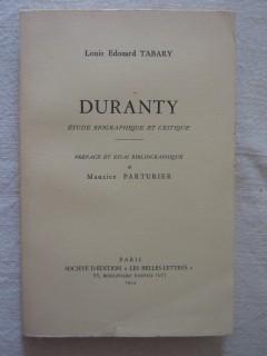 Duranty, étude biographique et critique