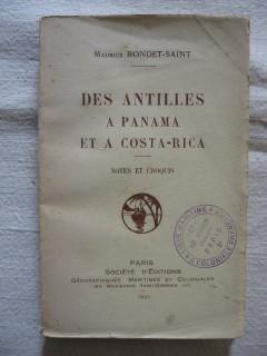Des antilles à Panama et à Costa Rica, notes et croquis.