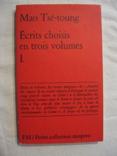Ecrits choisis en trois volume, 1