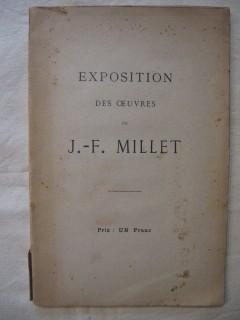 Exposition des oeuvres de J.F. Millet