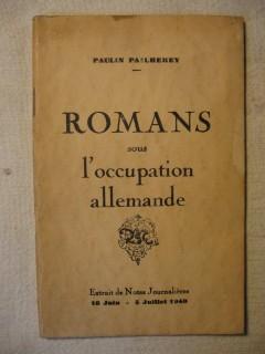 Romans sous l'occupation allemande